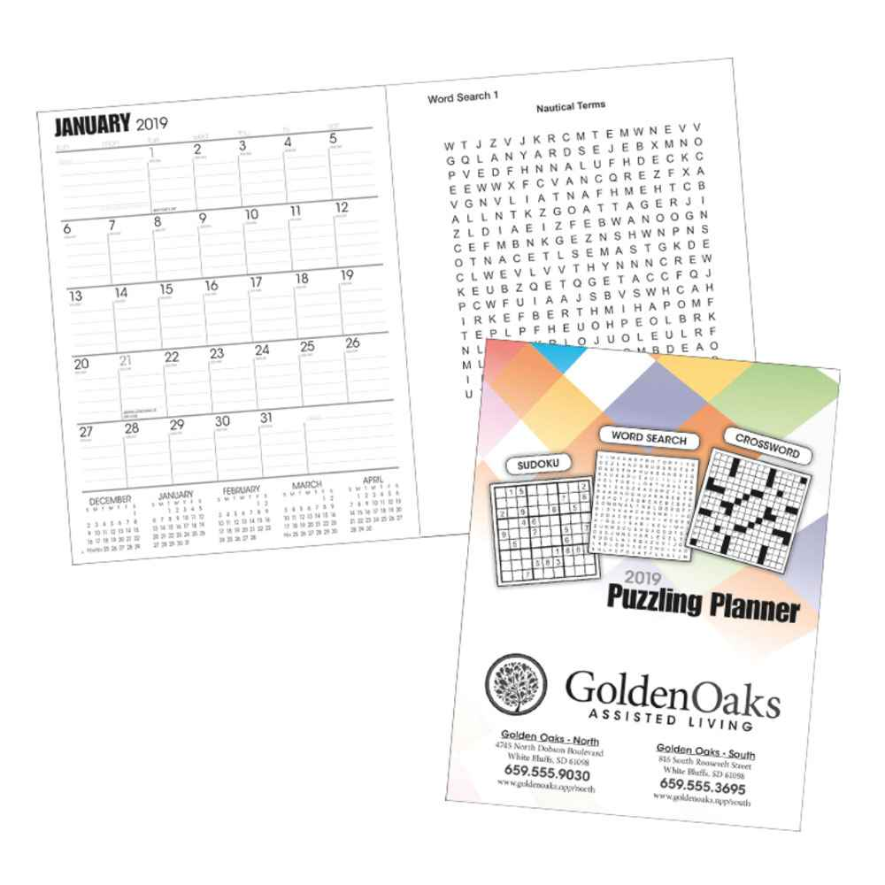 2021 Puzzling Planner - Personalization Available