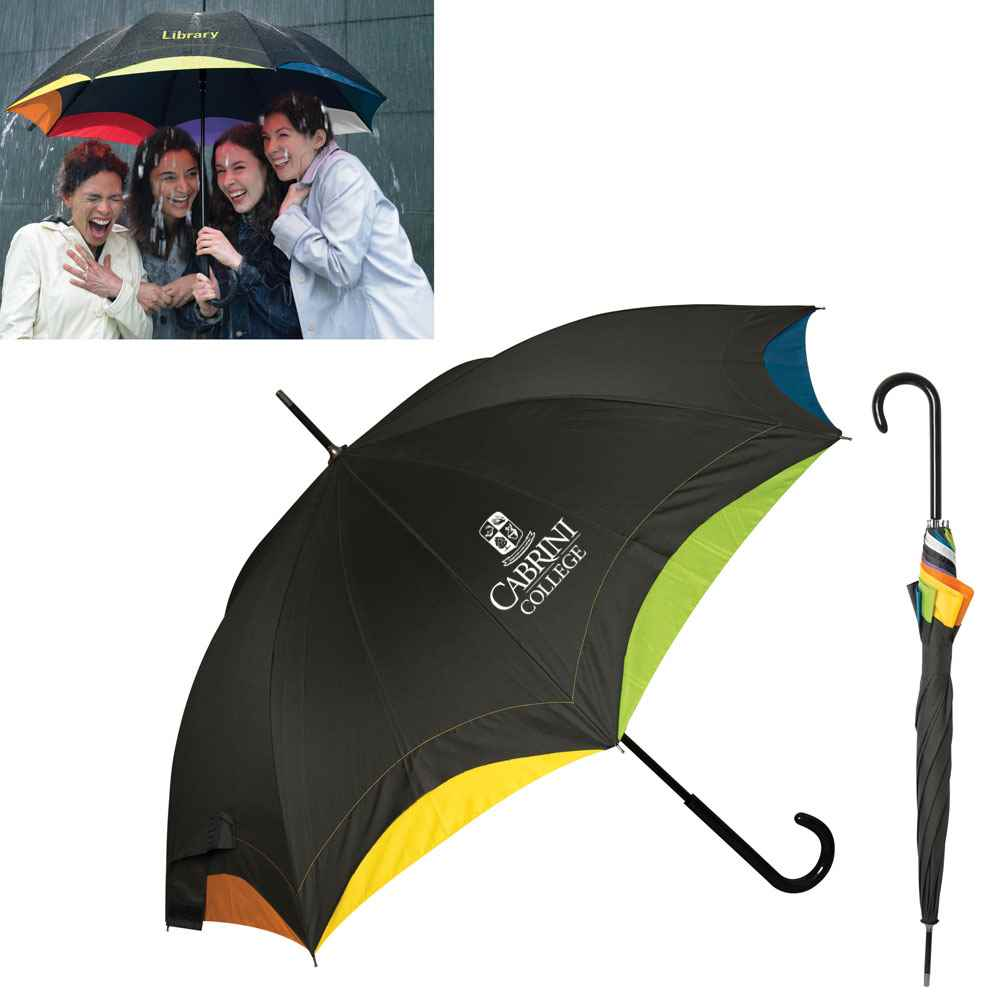 Rainbow Executive Umbrella - Personalization Available