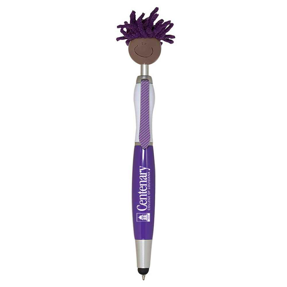 Multi-Culture MopTopper™ Screen Cleaner With Stylus Pen - Personalization Available