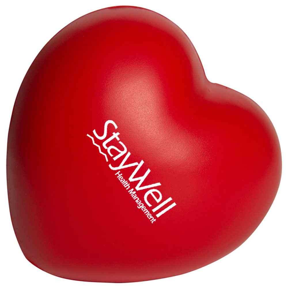Slow Return Foam Sweet Heart Squeezies Stress Reliever - Personalization Available