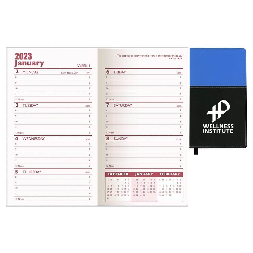Mystic Two-Tone Vinyl Soft Cover 2021 Weekly Planner - Personalization Available