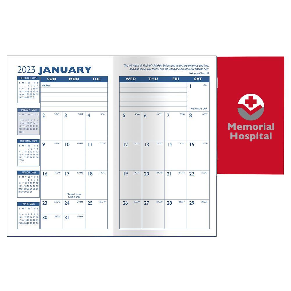 Cardstock Cover 2022 Monthly Pocket Planner - Personalization Available