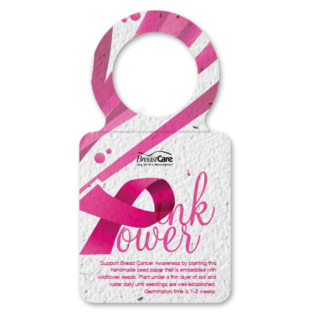 BCA Water Bottle Necker Seed Paper - Pink Power - Personalization Available