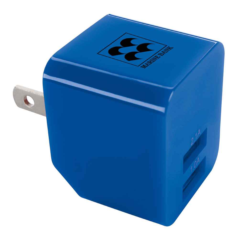 2 Port 2.1A Wall Adapter - Personalization Available
