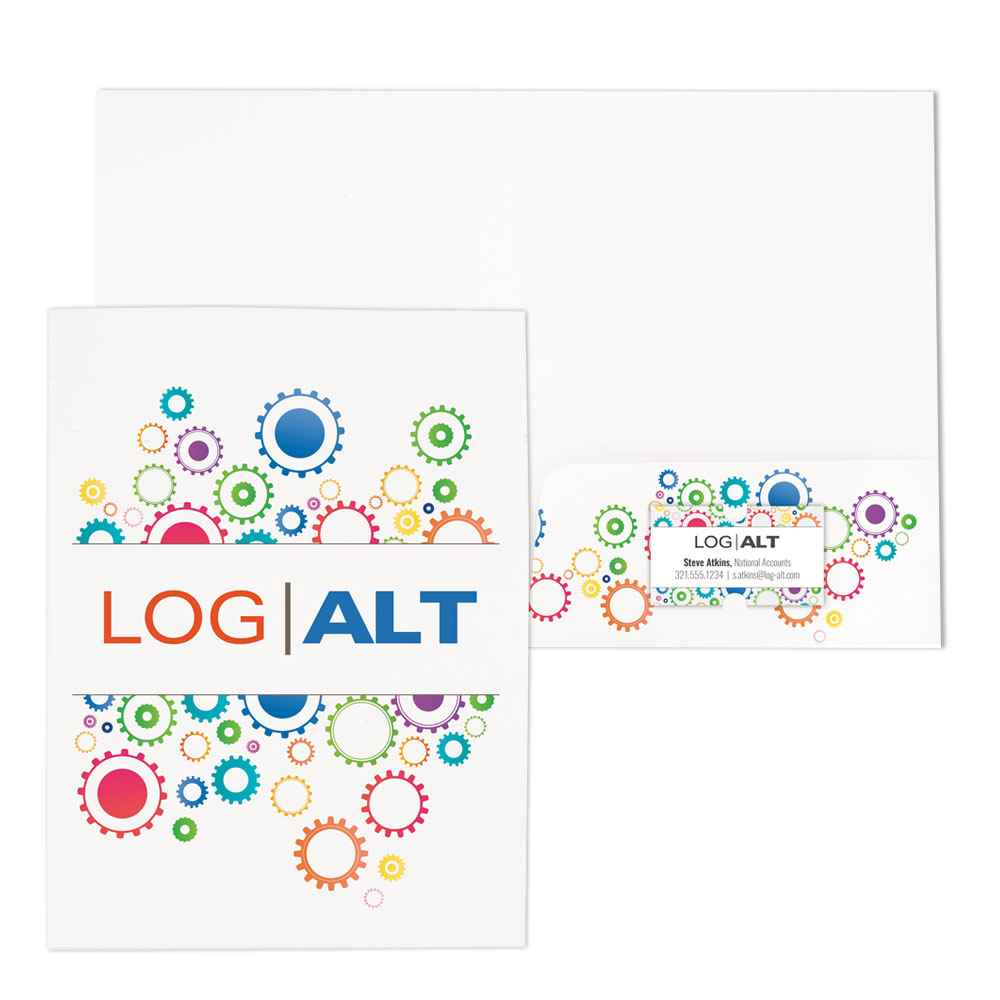 Full-Color Paper Folder - Personalization Available