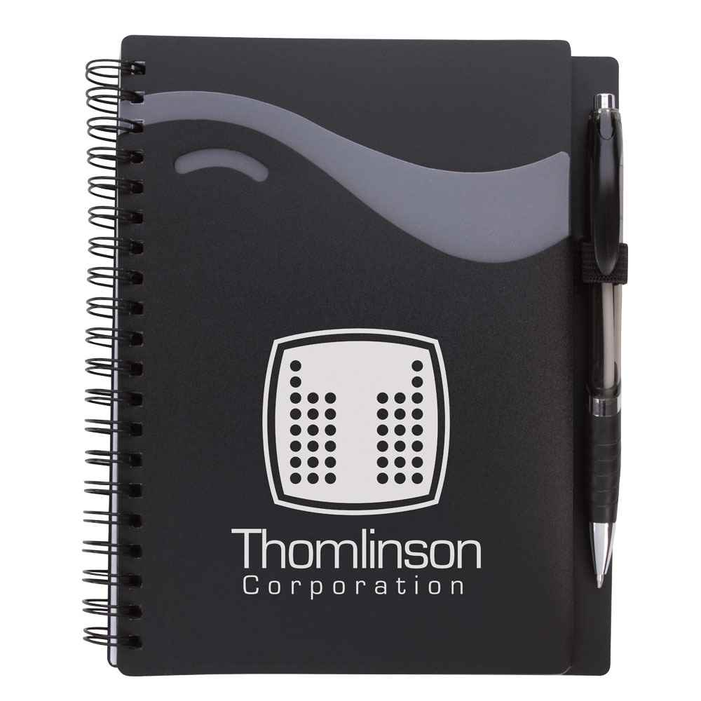 Wave Notebook With Epiphany Pen - Personalization Available
