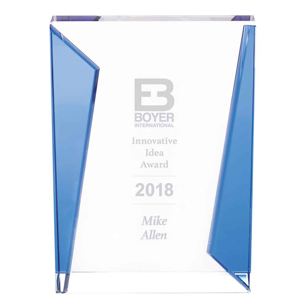 Dual Blue Award - Personalization Available