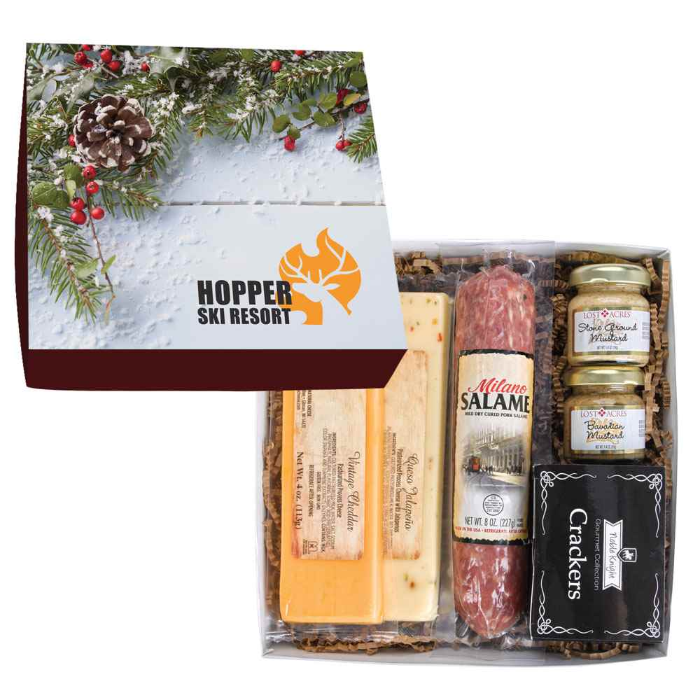 Deluxe Charcuterie Gourmet Meat And Cheese Set In Gift Box - Personalization Available