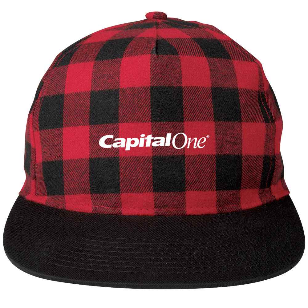 Northwoods Buffalo Plaid Structured Cap - Personalization Available