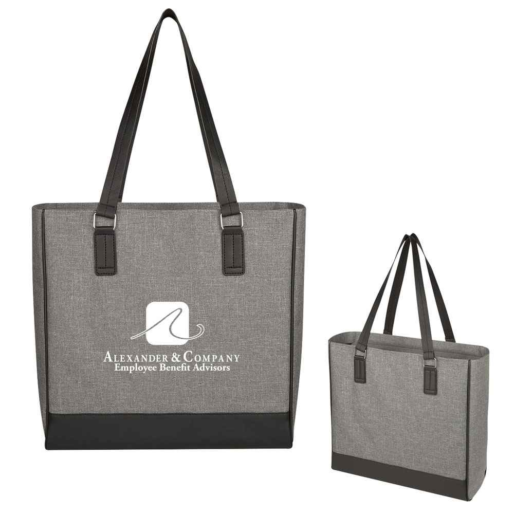 Classy Heathered Tote Bag - Personalization Available