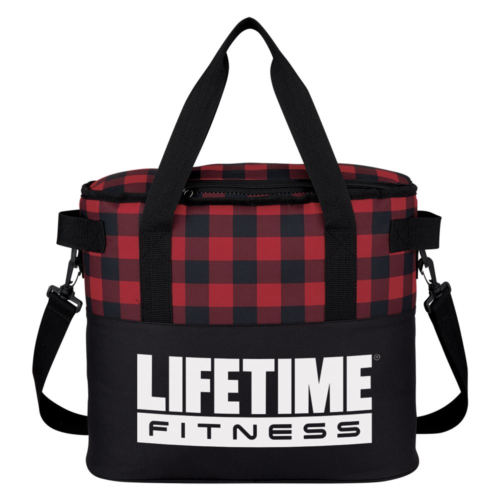 Northwoods Buffalo Plaid Cooler Bag - Personalization Available
