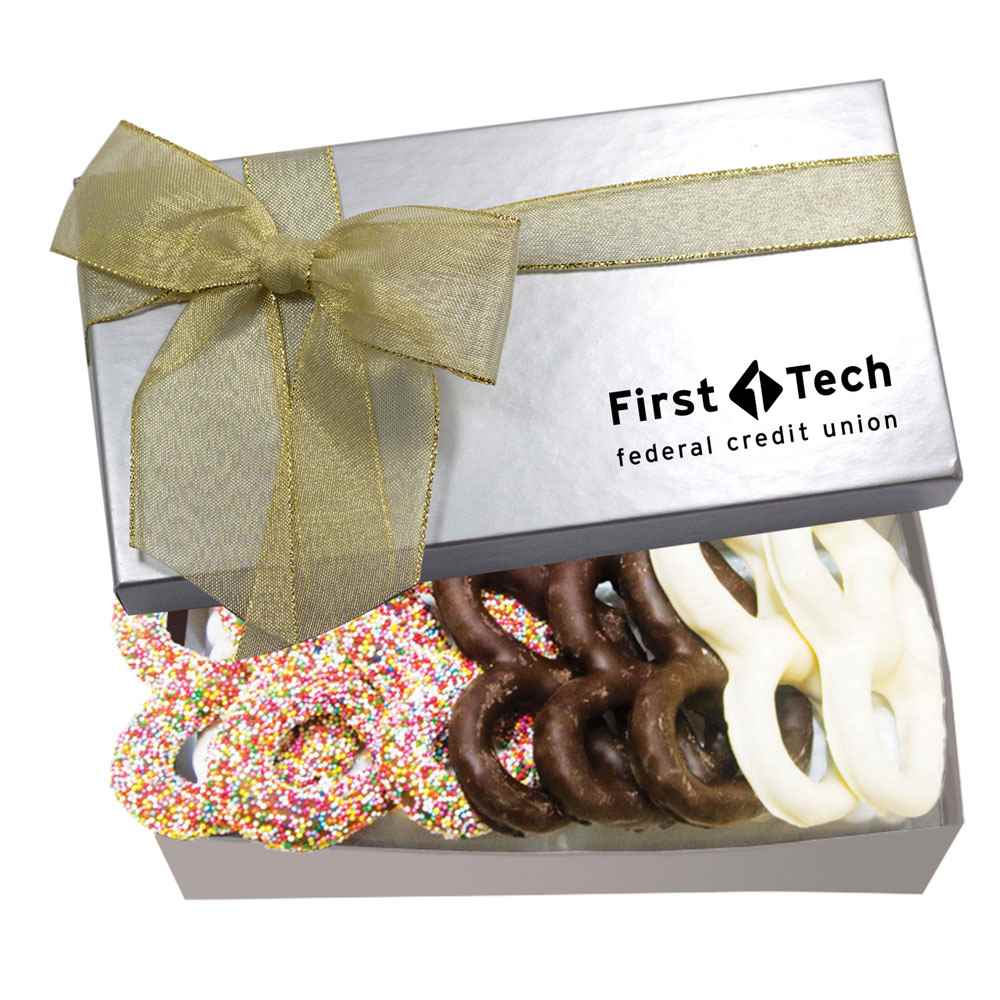The Executive Gift Box - Chocolate Covered Pretzels - Personalization Available