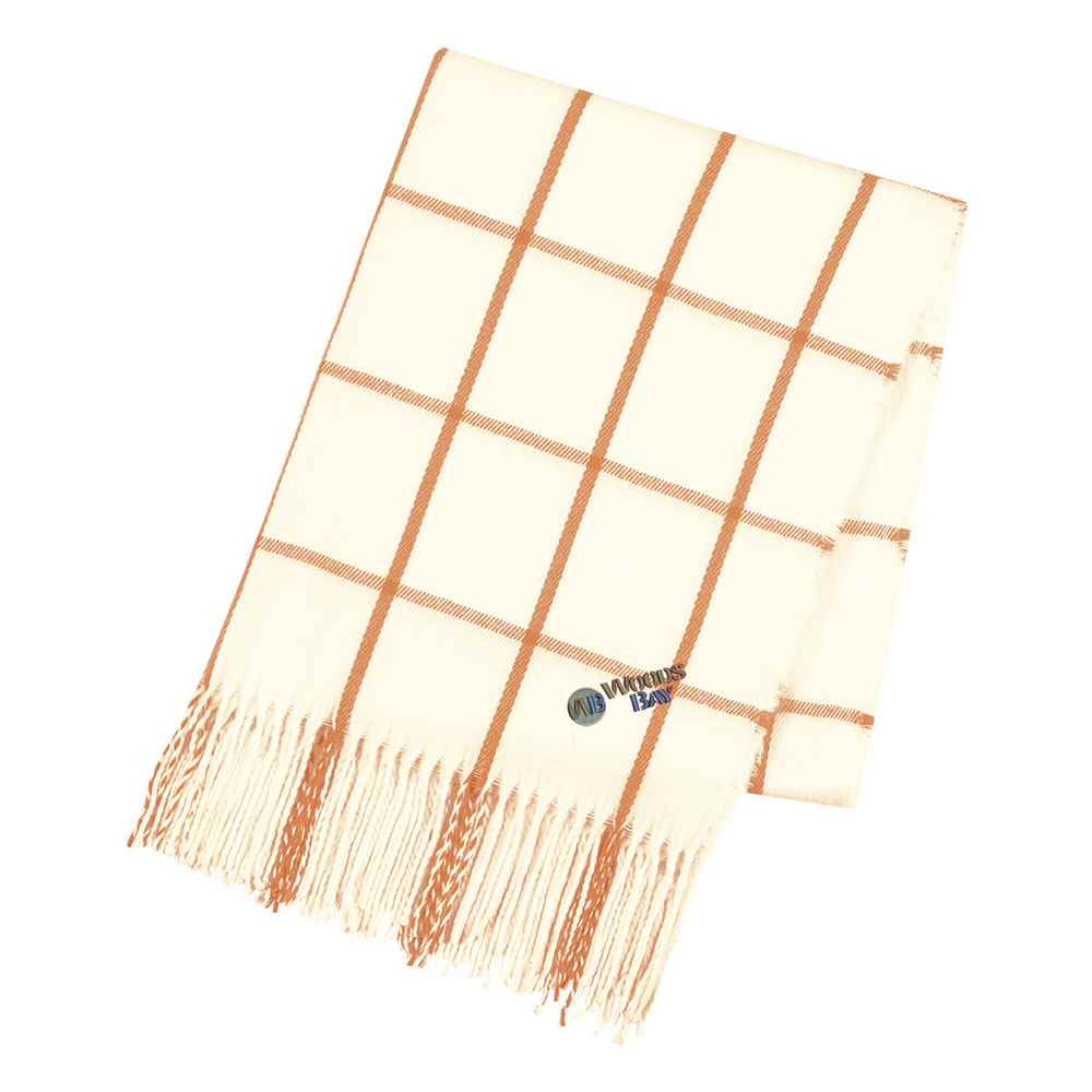 Charleston Fringed Scarf - Personalization Available