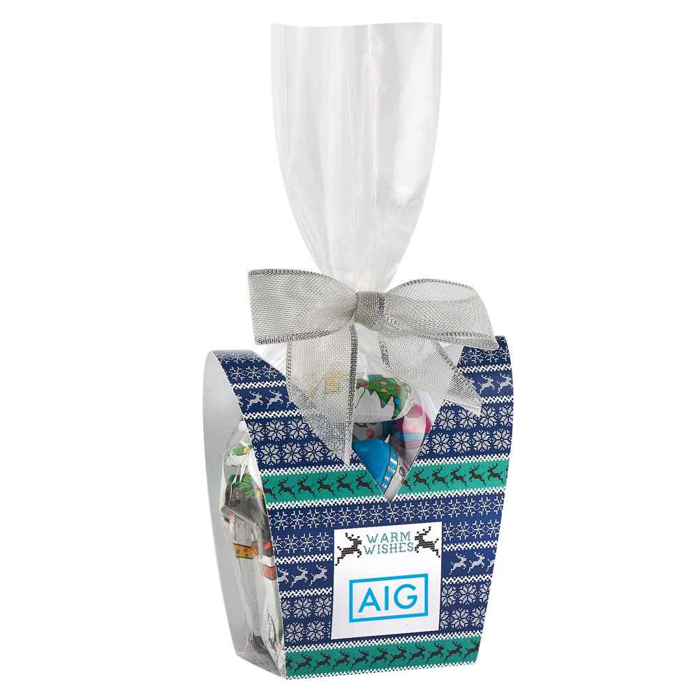 Ugly Sweater Desk Drop With Chocolate Snowmen - Personalization Available