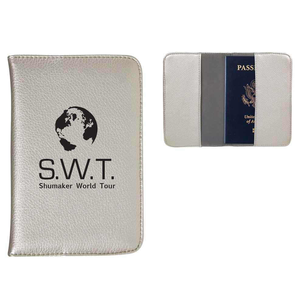 Metallic Passport Wallet - Personalization Available