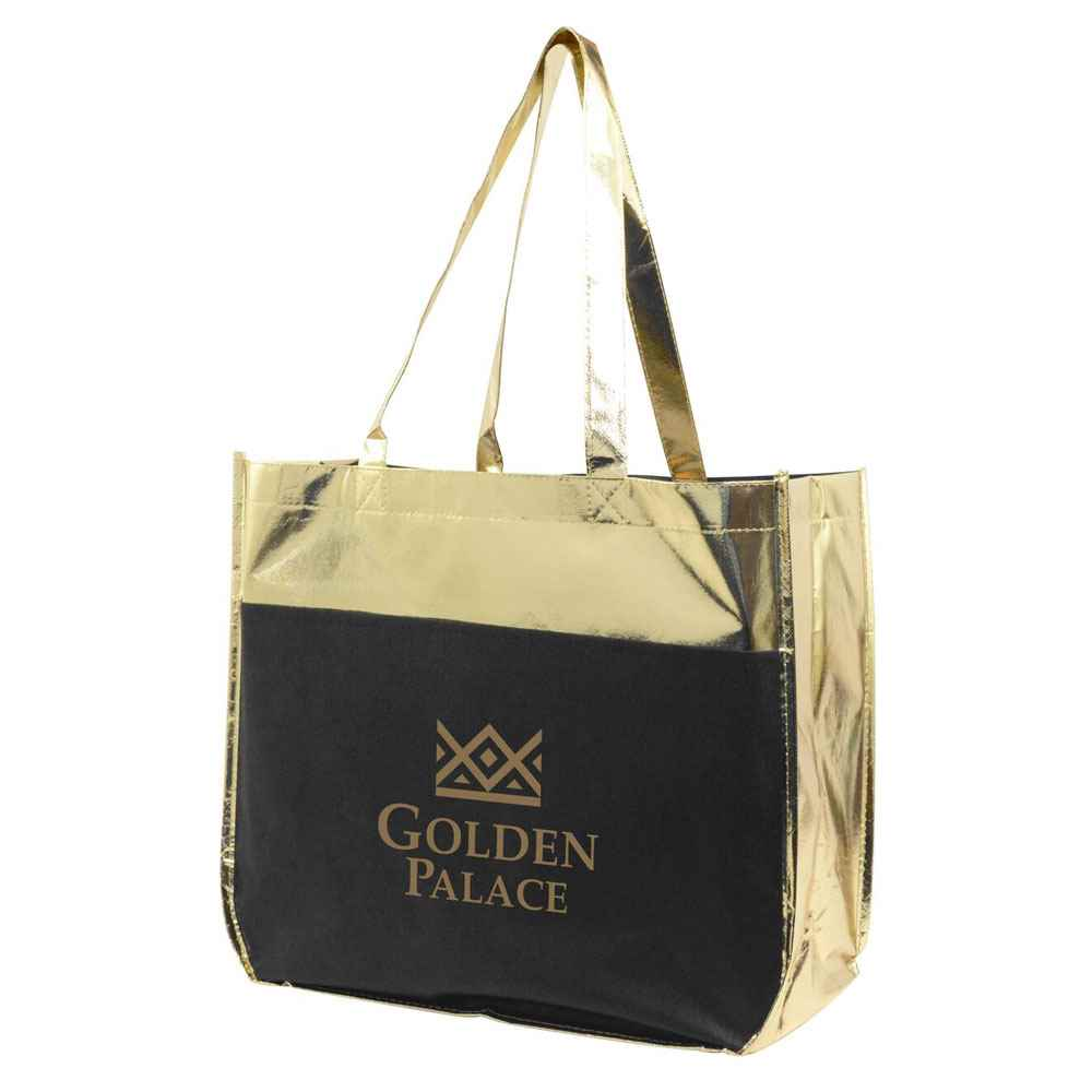 Metallic Poly Pro Shopper Tote - Personalization Available