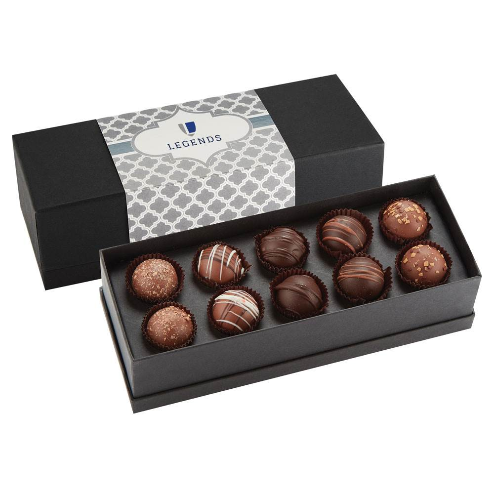 10-Piece Decadent Truffle Box - Personalization Available