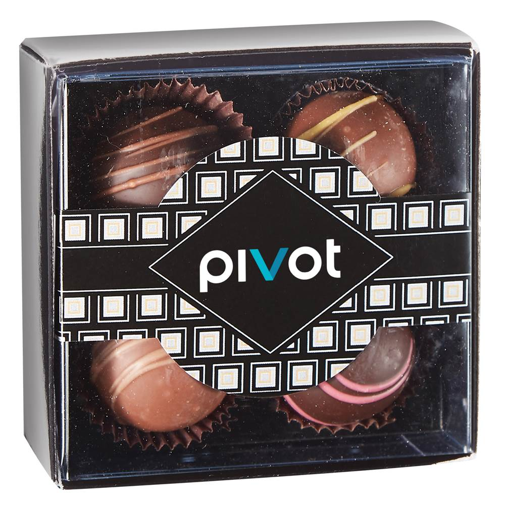 4-Piece Decadent Truffle Box - Personalization Available