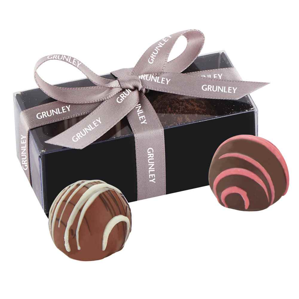 2-Piece Decadent Truffle Box - Personalization Available