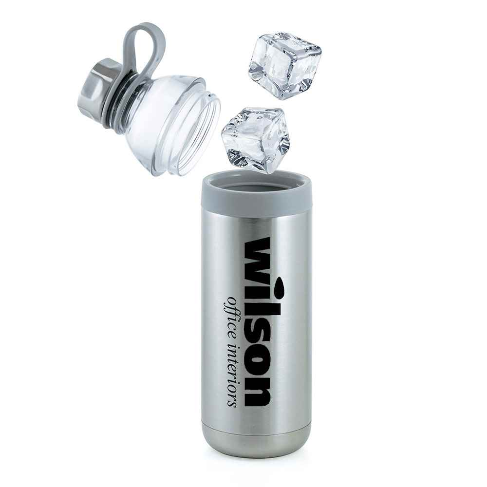 Dual Opening Stainless Steel Water Bottle 20-Oz. - Personalization Available