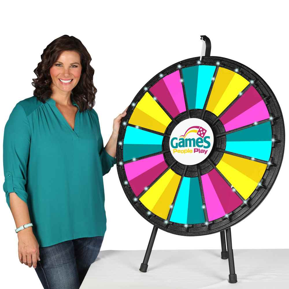 12-Slot Table Top Prize Wheel With Lights
