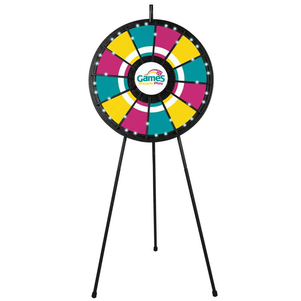 12-Slot Floor Prize Wheel With Lights
