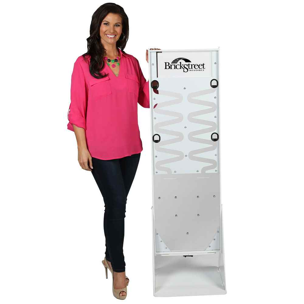 Deluxe Donation Stand - White