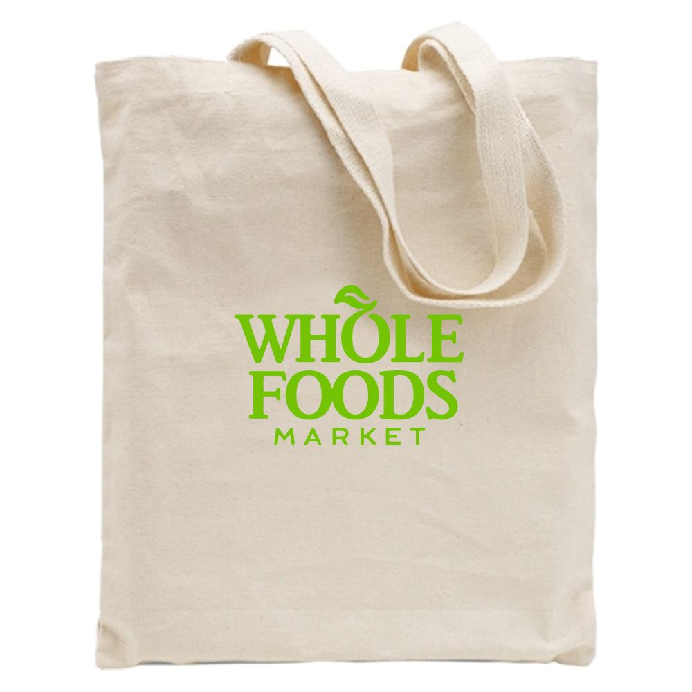 12-Oz. Cotton Canvas Natural Tote - Personalization Available