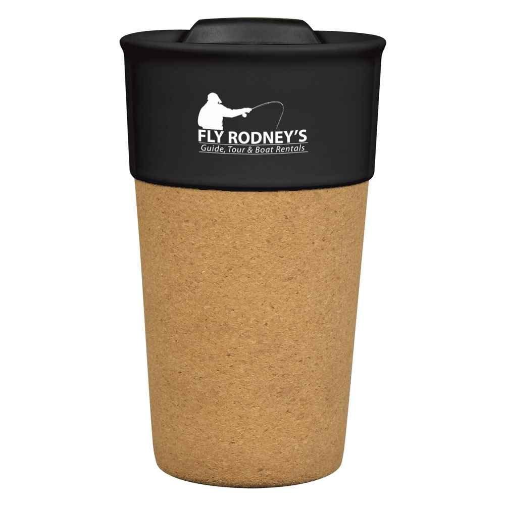 Brea Cork Ceramic Travel Tumbler 13-Oz. - Personalization Available
