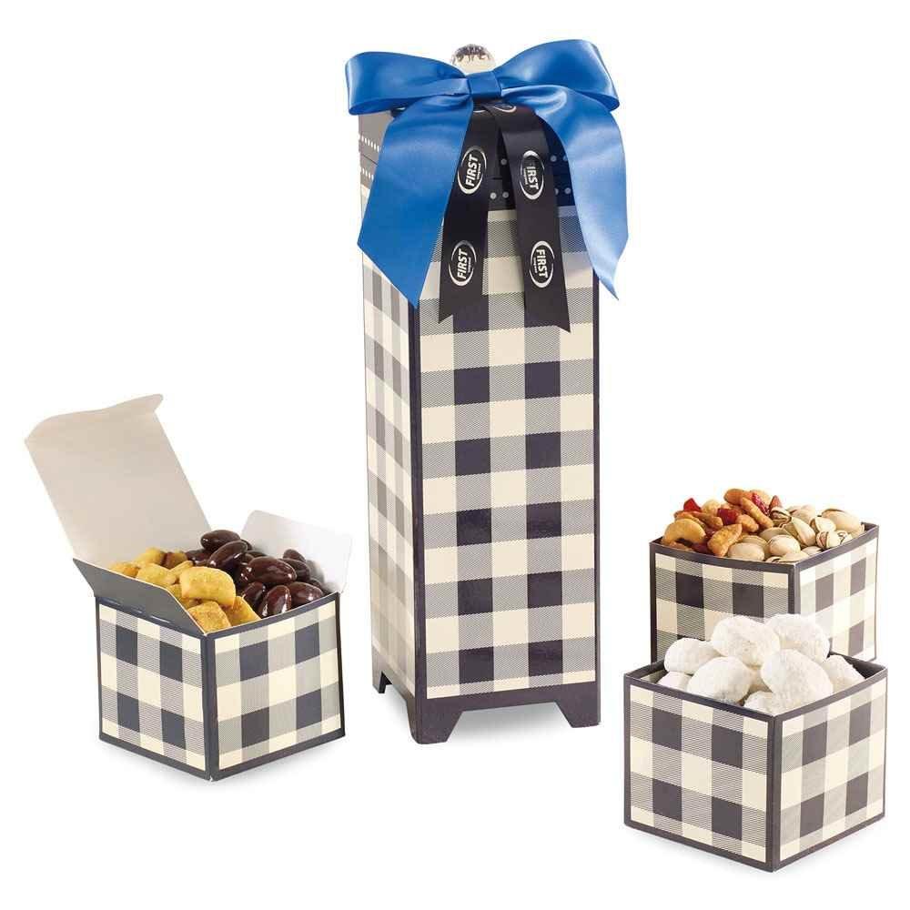 Mad For Plaid Sweet and Savory Snacks Keepsake Box