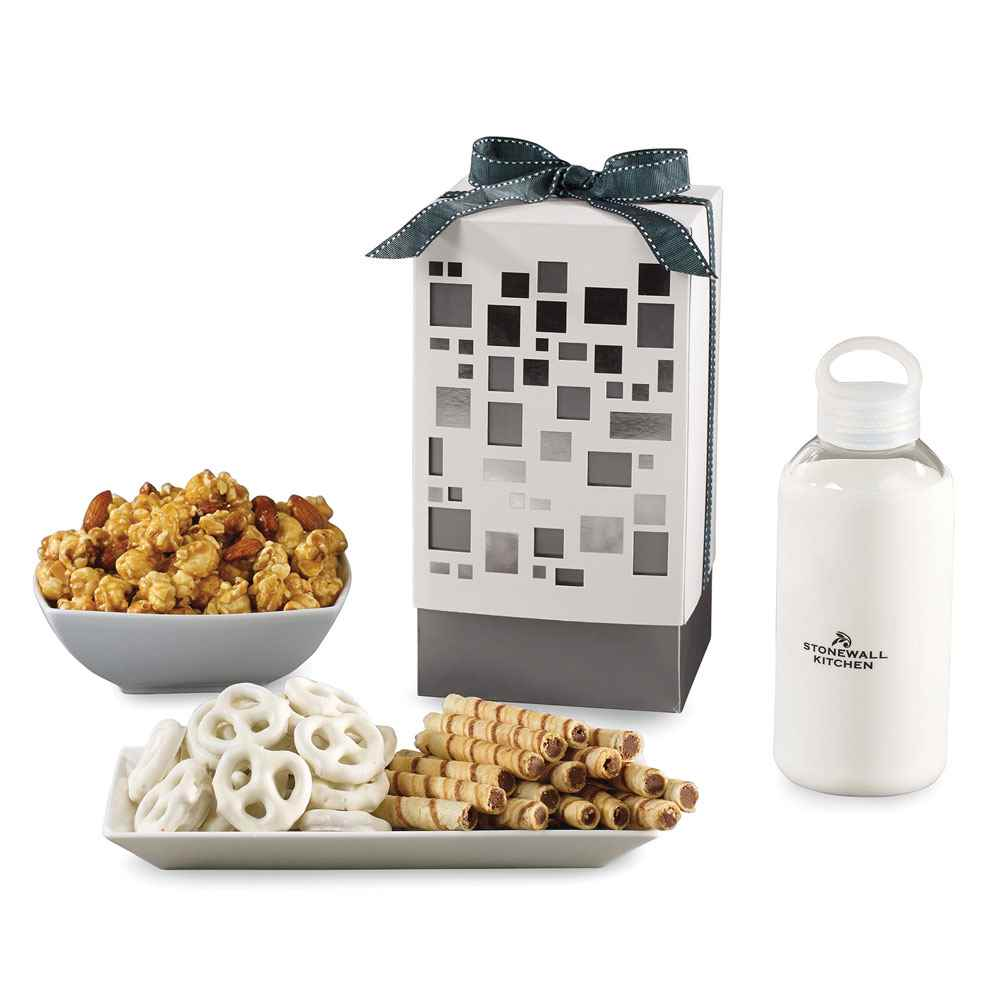 Pure Mondrian Gourmet Gift Box with Purity Glass Bottle 18.5-Oz.