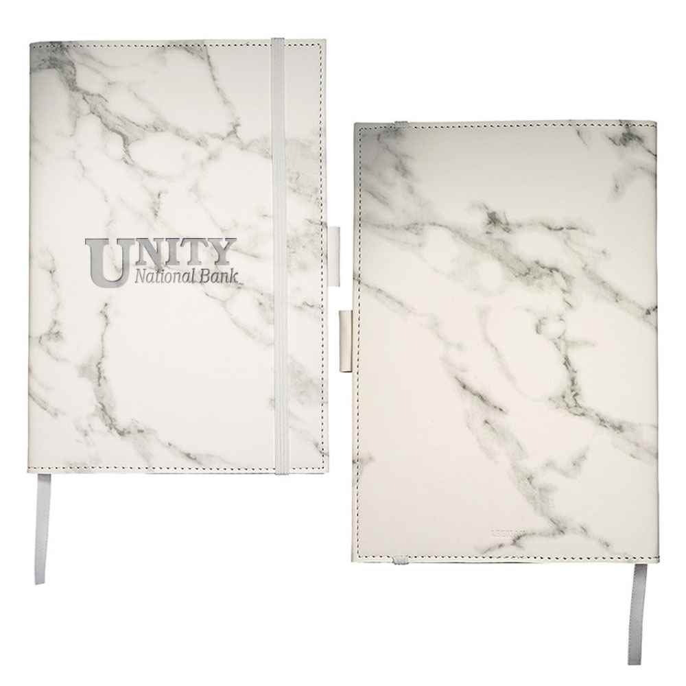 Leeman™ Medium Marble Refillable Journal