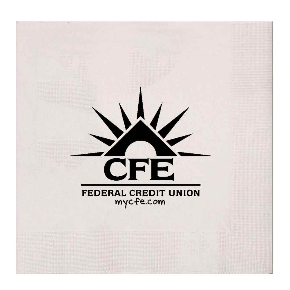 White 3-Ply Beverage Napkins - Personalization Available