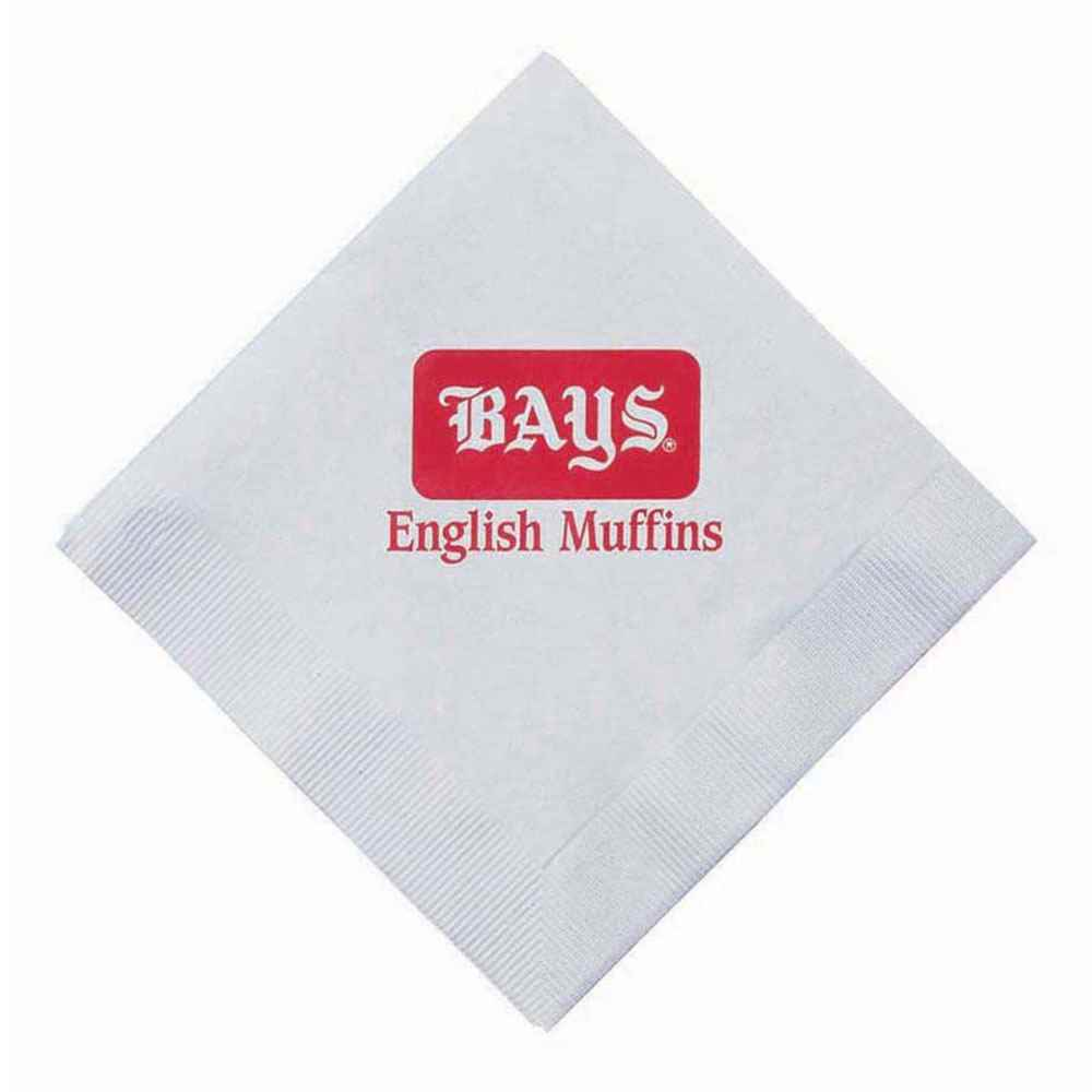 Three-Ply White Dinner Napkins - Personalization Available