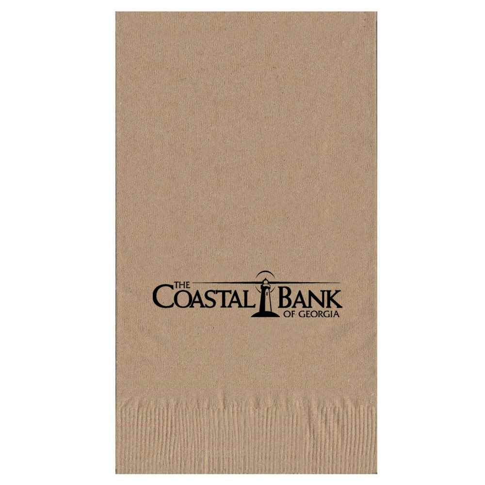 2-Ply Kraft Dinner Napkins 1/8 Fold - Personalization Available