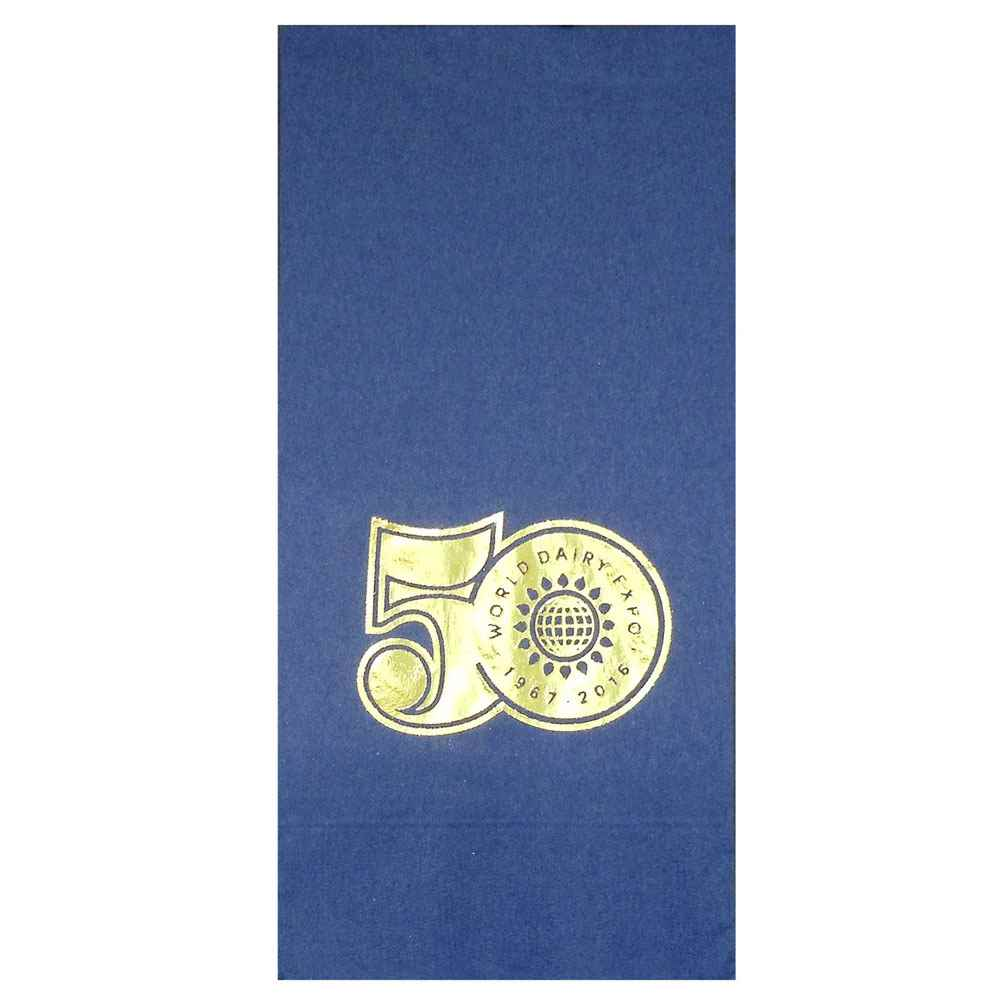 Foil-Stamped Colored 1/8 Fold Napkins - Personalization Available