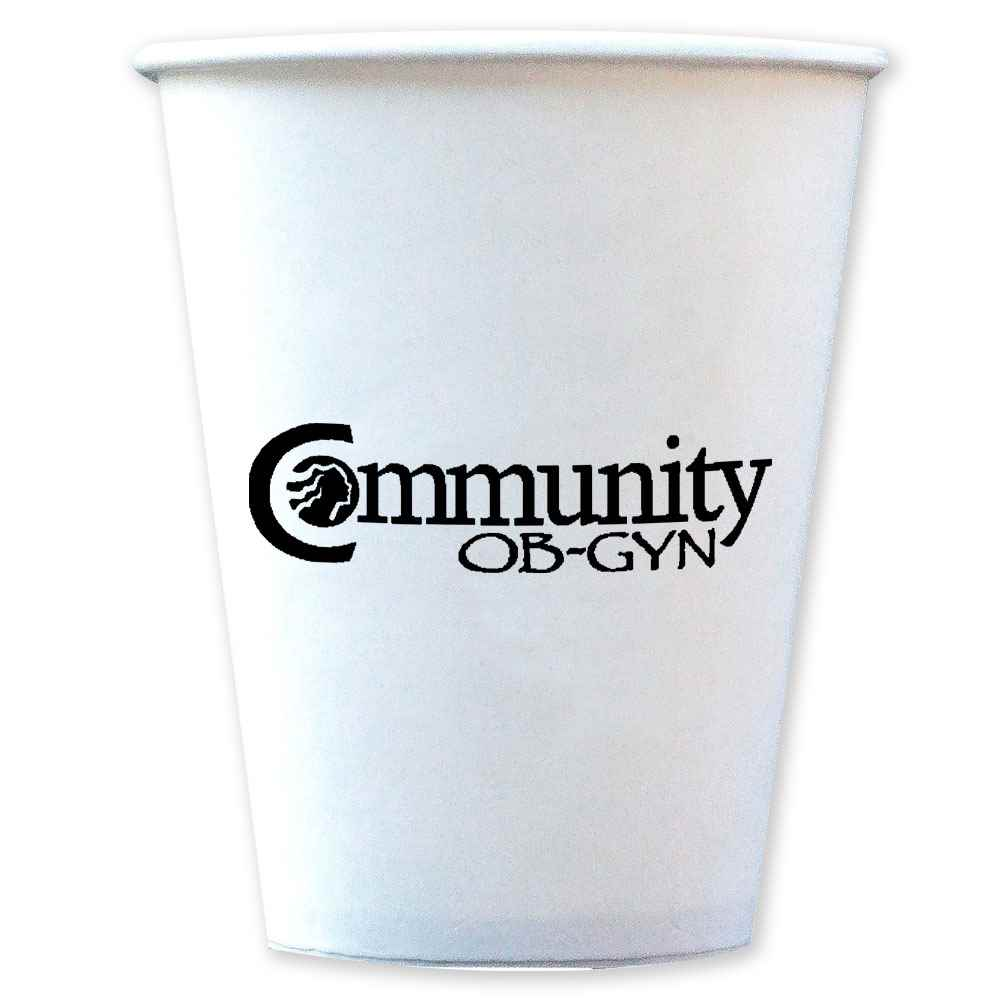 10-Oz. Hot/Cold Paper Cups - Personalization Available