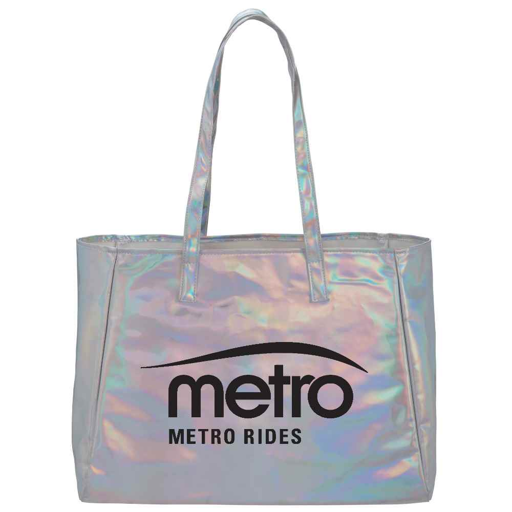 Holographic Shopper Tote - Personalization Available