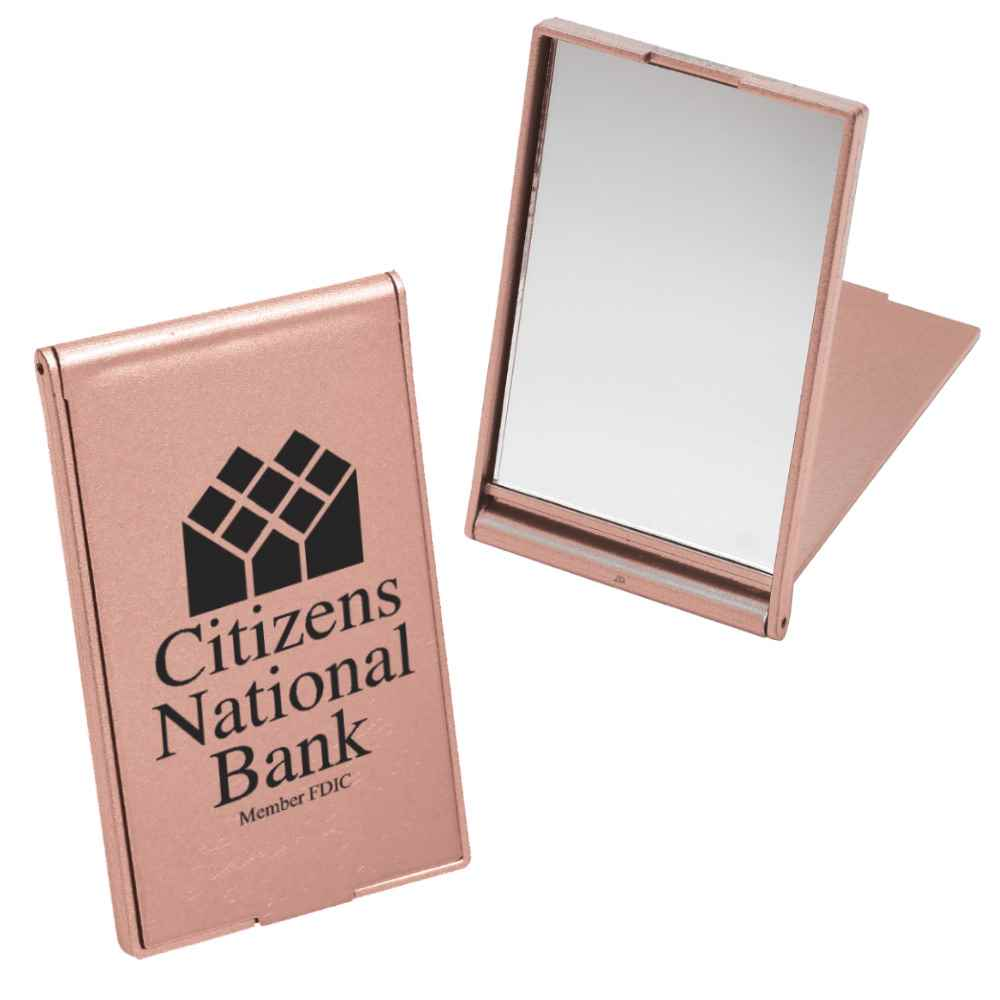 Stand-Up Pocket Mirror - Personalization Available