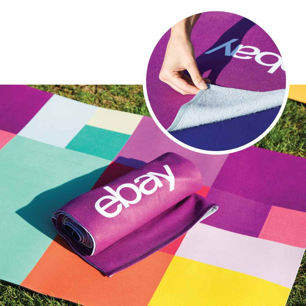 Sublimated Yoga Mat Towel - Personalization Available
