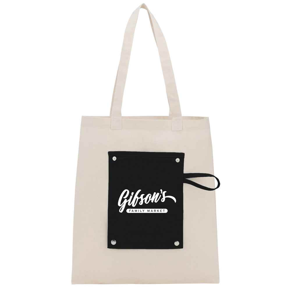 6-Oz. Cotton Canvas Packable Snap Tote - Personalization Available