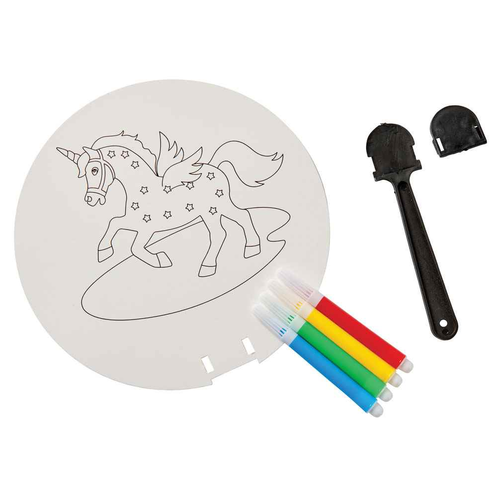 Coloring Paper Fan Set - Personalization Available