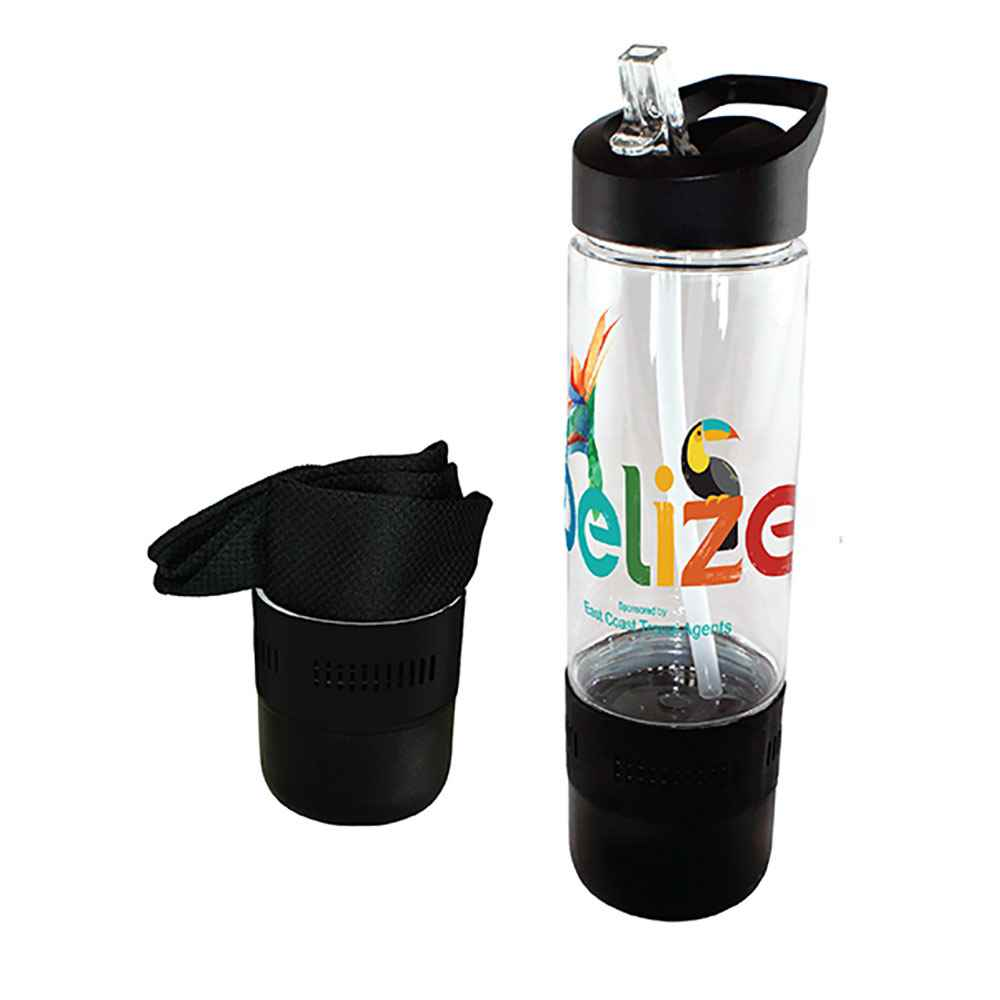 Tritan™ Bottle 17-Oz. with Cooling Towel, Full-Color DIgital Personalization Available
