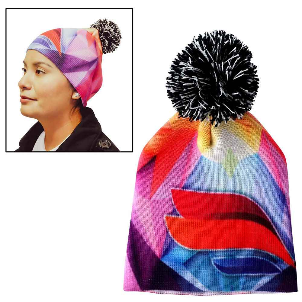 Vibrant Custom Pom Beanie - Personalization Available