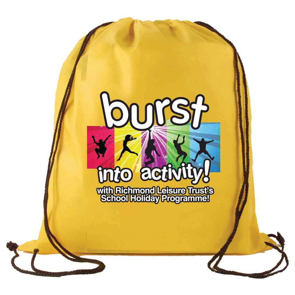 Non-Woven Drawstring Backpack - Full-Color Personalization Available