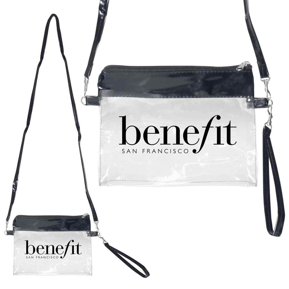 Clear PVC Sling-Over Pouch - Personalization Available