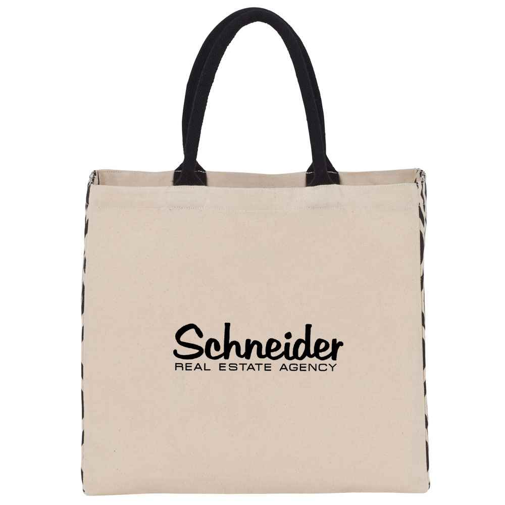 Diamond Gusset Cotton Tote - Personalization Available
