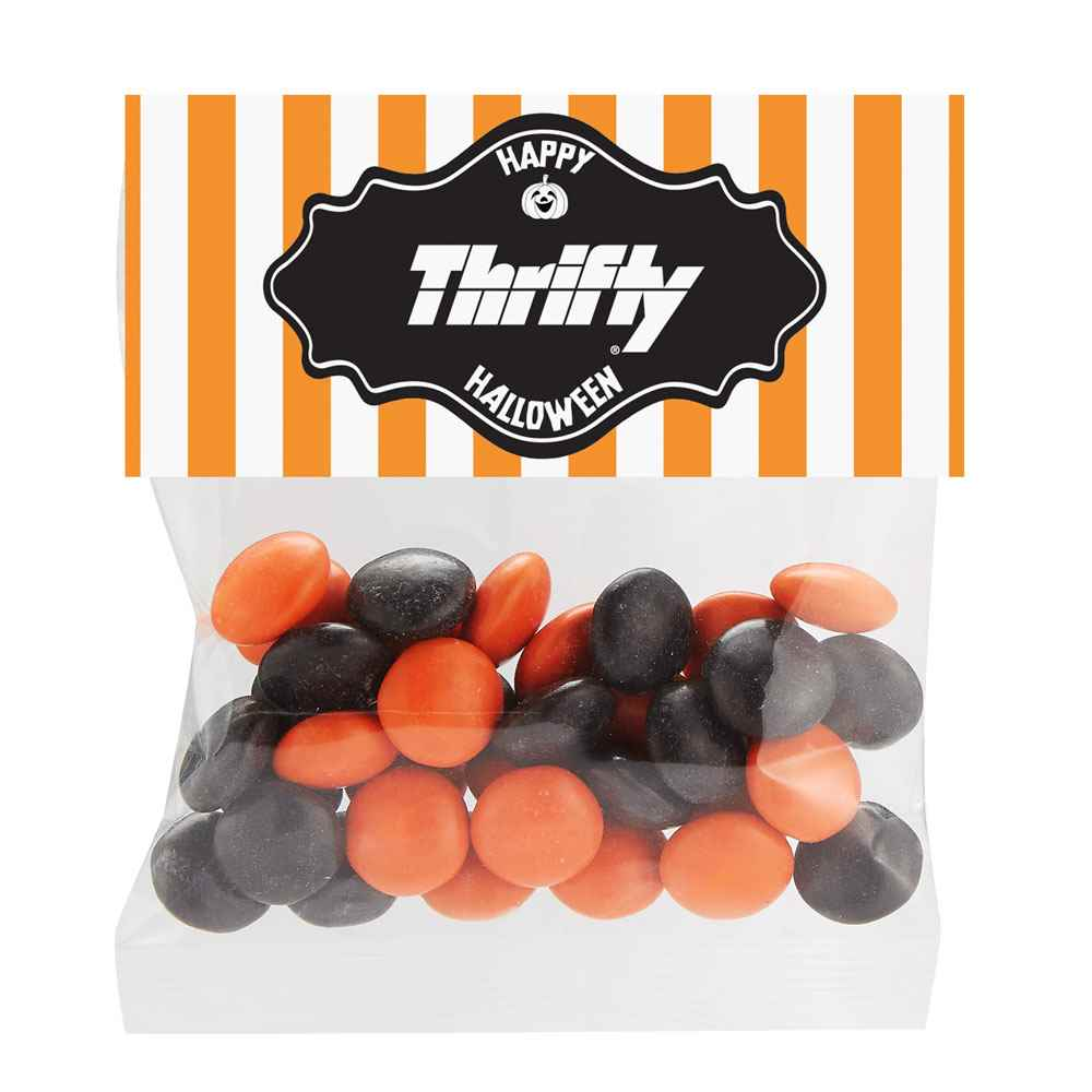 Halloween Chocolate Buttons in Header Bag 1-Oz. - Full-Color Personalization Available