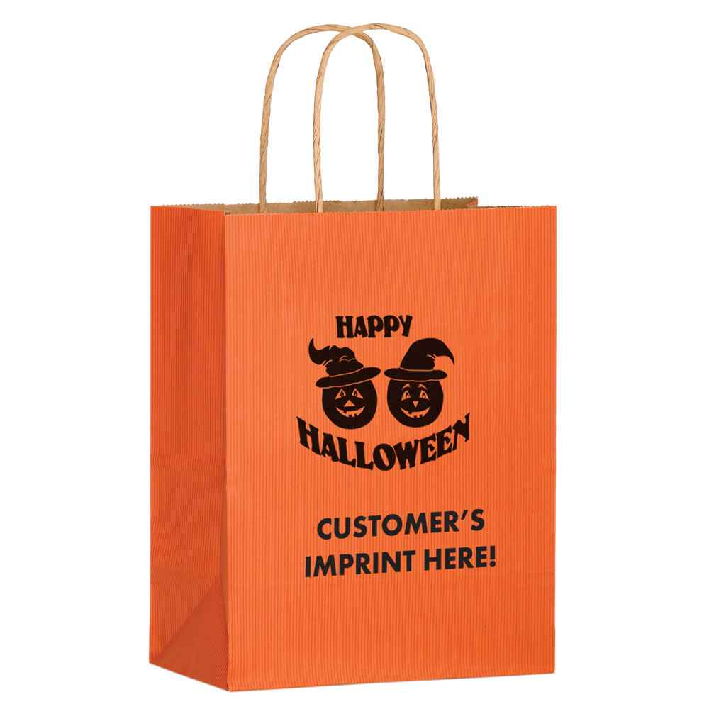 Halloween Pumpkins Matte Shopper Tote - Orange - Personalization Available