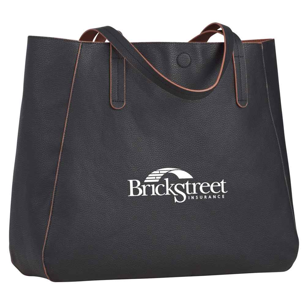 Brooklyn Pebbled Tote - Personalization Available